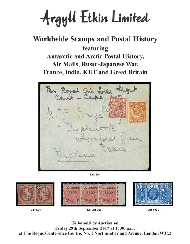 Argyll Etkin - London Philatelists - Sale 40