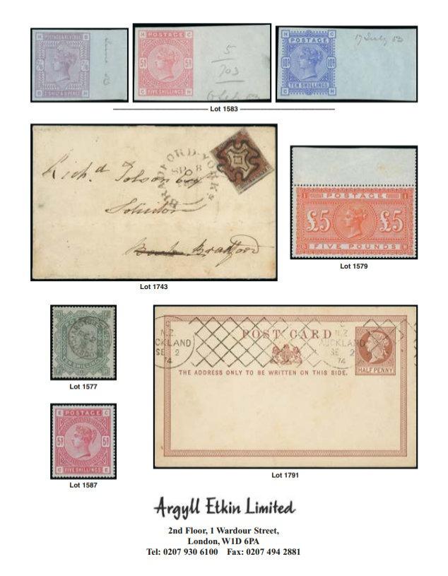 Argyll Etkin - London Philatelists - Argyll Etkin